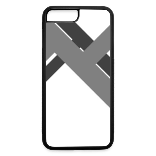 iPhone 7 Plus Rubber Case | Abstract Bars - Gray - iPhone 7 Plus/8 Plus Rubber Case