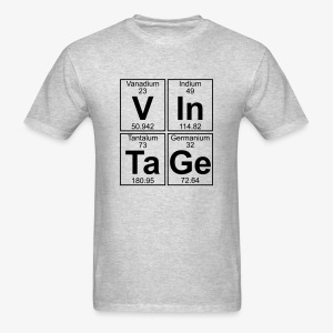 Smash Tee Classic Vintage Periodic Table - Men's T-Shirt