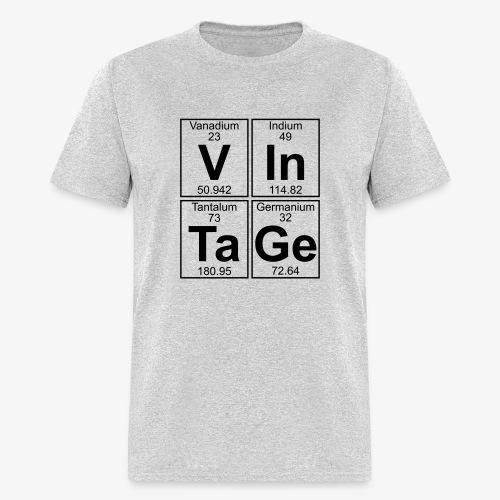 Smash Tee Classic Vintage Periodic Table - Men's T-Shirt