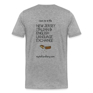 New Jersey Italian and English Language Exchange - Men's Premium T-Shirt