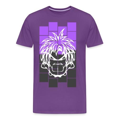 BFCC: Cube Lit Grey Purp - Men's Premium T-Shirt