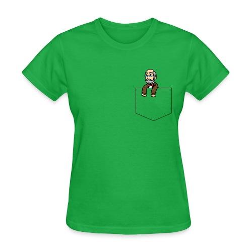 Pocket Zamenhof (Feminine) - Women's T-Shirt