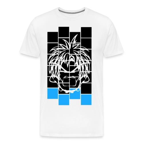 BFCC: Cube Lit Black Blue Dab - Men's Premium T-Shirt