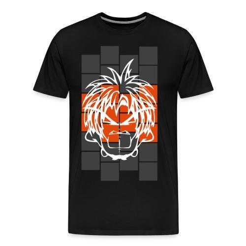 BFCC: Cube Lit Grey Orange - Men's Premium T-Shirt
