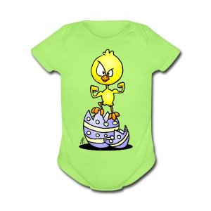 Easter Chick Baby Bodysuits - Short Sleeve Baby Bodysuit
