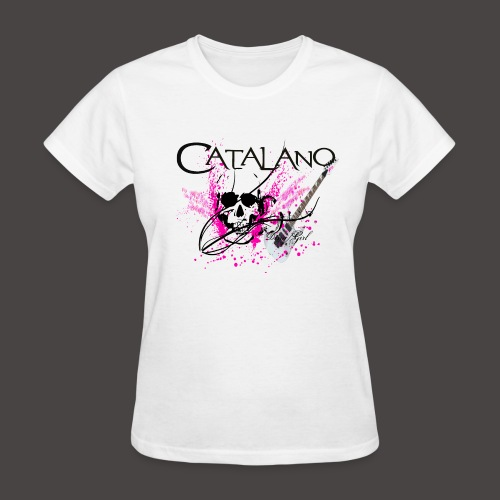 Catalano Skull /Guitar T-Shirt  - Women's T-Shirt