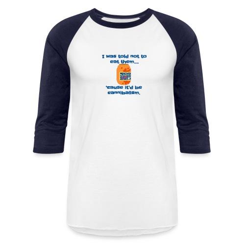 Cheesball Cannibalism - Baseball T-Shirt