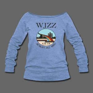 WJZZ 106 FM Detroits Jazz Radio - Women's Wideneck Sweatshirt