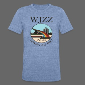 WJZZ 106 FM Detroits Jazz Radio - Unisex Tri-Blend T-Shirt by American Apparel