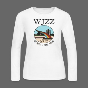 WJZZ 106 FM Detroits Jazz Radio - Women's Long Sleeve Jersey T-Shirt