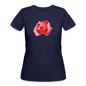 Lil Pink Rose - Women's 50/50 T-Shirt