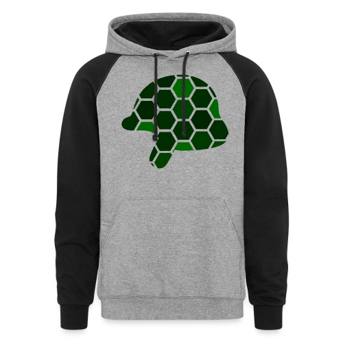 Turtle Helmet Logo Two Color Hoodie - Colorblock Hoodie