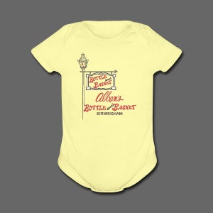 Alban's Bottle and Basket - Birmingham Michigan - Short Sleeve Baby Bodysuit