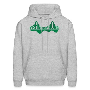 Men's sweatshirt_heather grey forest green text - Men's Hoodie