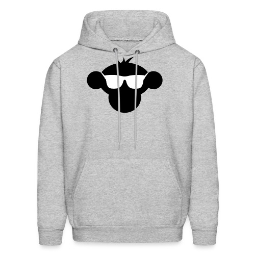Munkimotion Men's Hoodie Grey : heather gray - Men's Hoodie