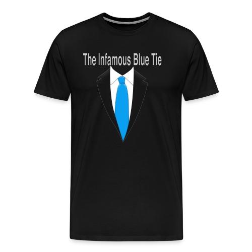 Infamous Blue Tie T-Shirt - Men's Premium T-Shirt