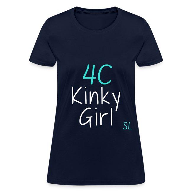 4C Kinky Girl Natural Hair Black Women's T-shirt Clothing by Stephanie Lahart. #1