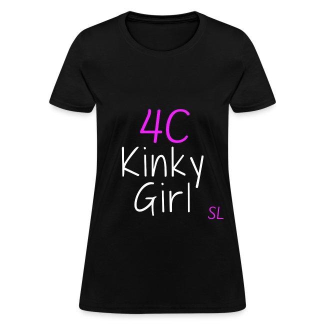 4C Kinky Girl Natural Hair Black Women's T-shirt Clothing by Stephanie Lahart. #2