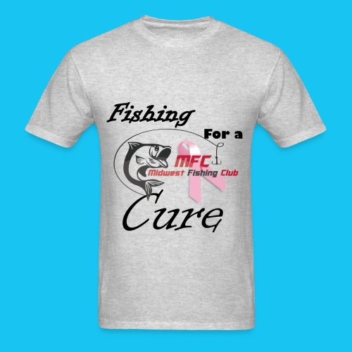 MFC Fishing for a Cure Gray - Men's T-Shirt