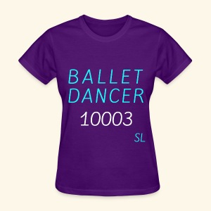 New York, NY 10003 Ballet Dancer T-shirt by Stephanie Lahart  - Women's T-Shirt
