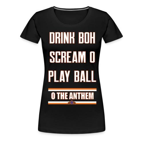 Rules for Summer black women's - Women's Premium T-Shirt