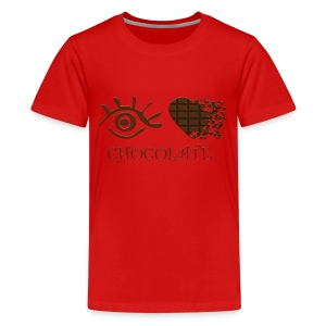 Eye-Love Chocolate - Kids' Premium T-Shirt