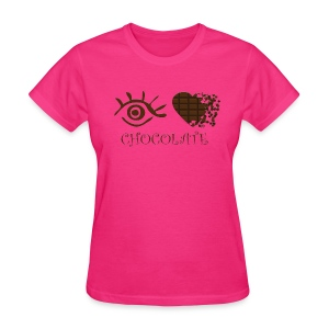 Eye-Love Chocolate - Women's T-Shirt
