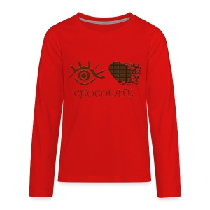 Eye-Love Chocolate - Kids' Premium Long Sleeve T-Shirt