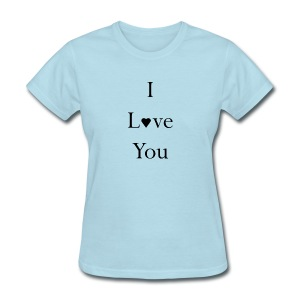 Woman's I Love you Dark Ink Tee - Women's T-Shirt