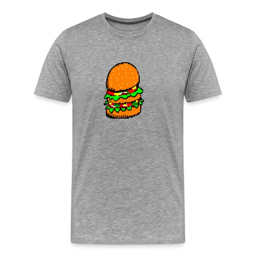 Ascii Pixel Burger - Men's Premium T-Shirt