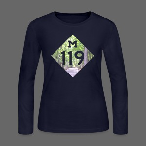 M-119 Tunnel of Trees  - Women's Long Sleeve Jersey T-Shirt