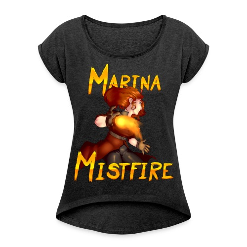 Marina Mistfire - Women´s Rolled Sleeve Boxy T-Shirt - Women's Roll Cuff T-Shirt