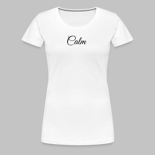 Calm Women's Tee (White) - Women's Premium T-Shirt