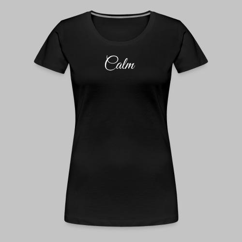 Calm Women's Tee (Black) - Women's Premium T-Shirt