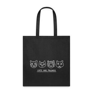 Cats are Friends Tote by Gemma Correll - Tote Bag