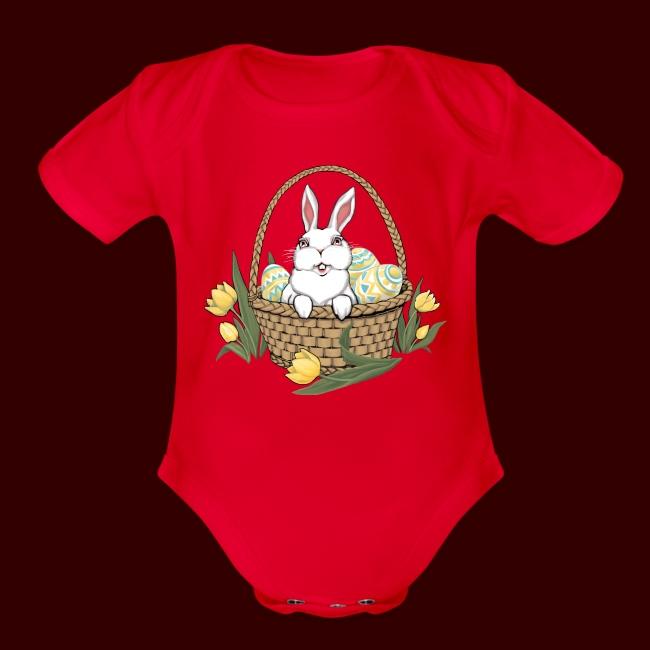 Easter Bunny Eggs Basket Infant Bodysuit My Lucky Hunting Shirt