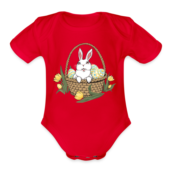 Baby Easter Bodysuit Easter Bunny Baby One-piece