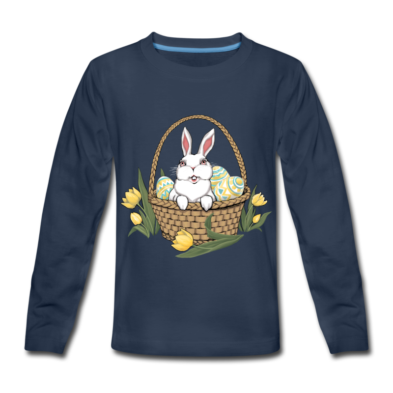 Kid's Easter T-shirts Easter Bunny Kid's Bunny Rabbit Shirts - Kids' Premium Long Sleeve T-Shirt
