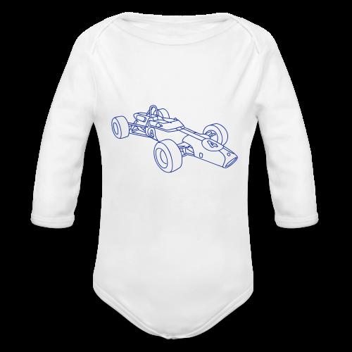 Racecar / racing car - Organic Long Sleeve Baby Bodysuit