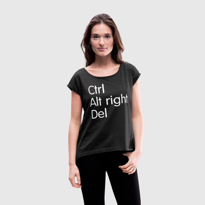 Ctrl Alt right Del T-Shirts - Women´s Rolled Sleeve Boxy T-Shirt