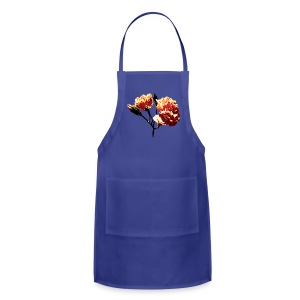 Two Peach Carnations Aprons - Adjustable Apron