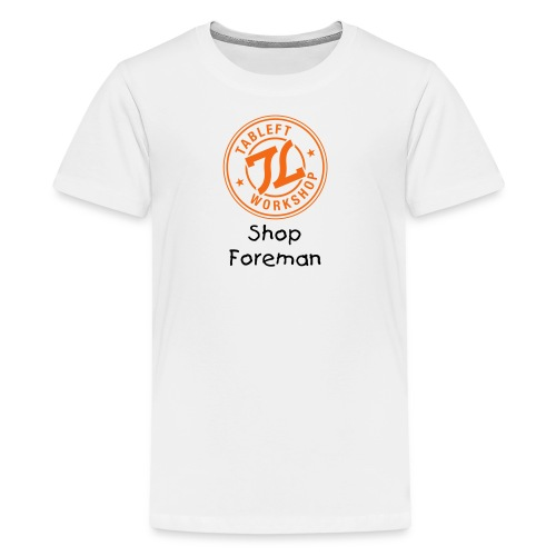 tableft-workshop-line-1c - Kids' Premium T-Shirt