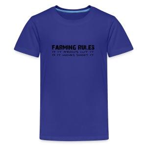 Farming Rules Kids - Kids' Premium T-Shirt