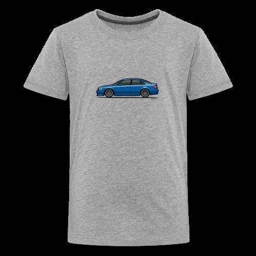 Audi A4 Quattro B5 Sedan (Nogaro Blue) - Kids' Premium T-Shirt