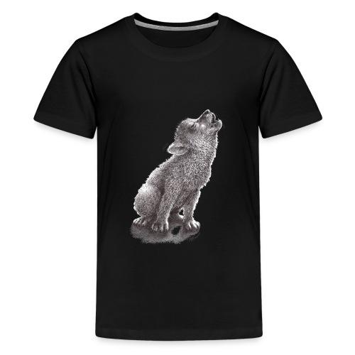 Funny Howling Wolf - Kids' Premium T-Shirt