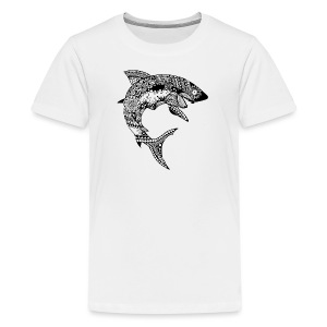 Tribal Shark Kids T Shirt from South Seas Tees - Kids' Premium T-Shirt