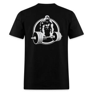 CLASSIC Gorilla Lifting BACK Fitness Beast Cross Design - Men's T-Shirt