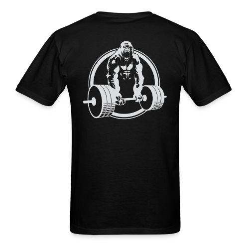 CLASSIC Gorilla Lifting BACK Fitness Beast Cross Design - Men's T-Shirt
