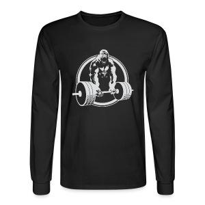 CLASSIC Gorilla Lifting Fitness Beast Cross Design - Men's Long Sleeve T-Shirt