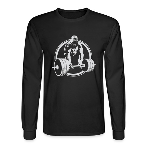CLASSIC Gorilla Lifting Fitness Beast Cross Design - Men's Long Sleeve T-Shirt